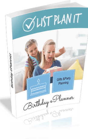 Birthday ePlanner includes budgets, packing lists, and itineraries to guide you to your next trip or vacation. | ListPlanIt.com
