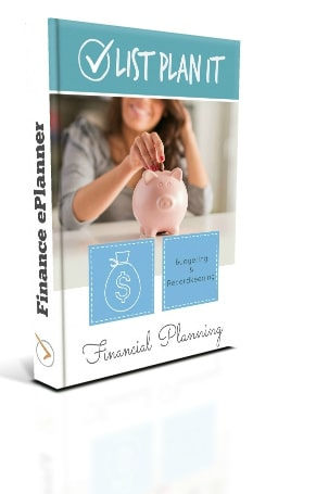 Finance ePlanner includes new worksheets and financial planning pages that will guide you to better money management | ListPlanIt.com