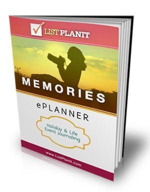 Memories ePlanner | ListPlanIt.com