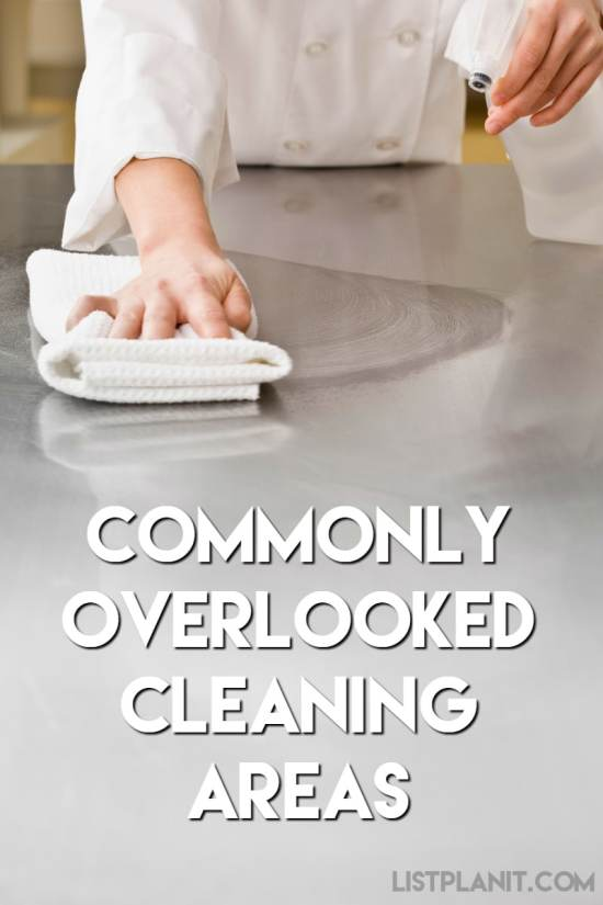 Commonly Overlooked Cleaning Areas