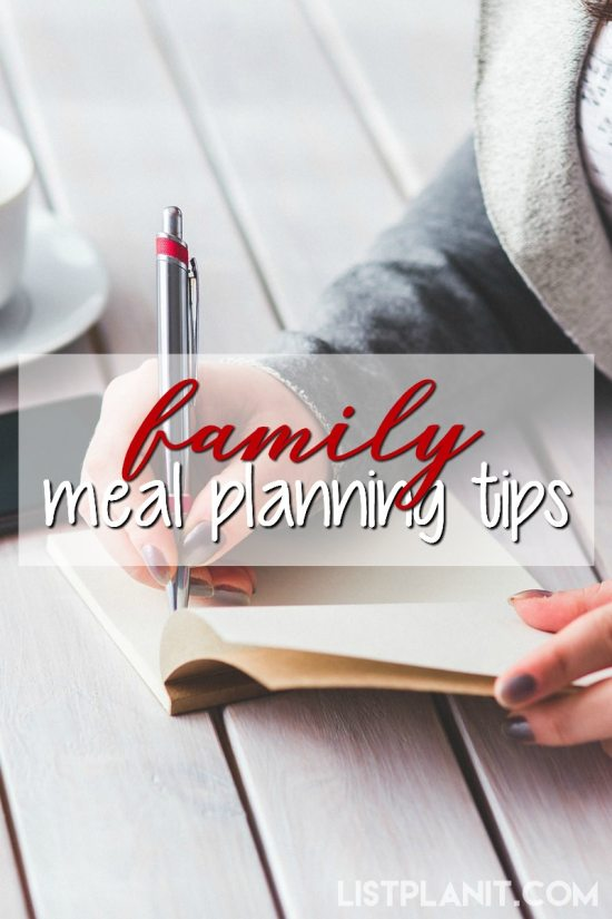 family meal planning tips