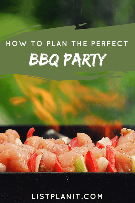 how to plan the perfect bbq party