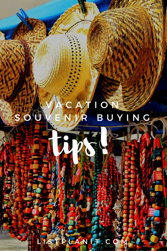 vacation souvenir buying tips