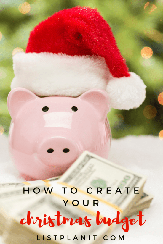 How to Create Your Christmas Budget