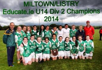 U14 county league champions!! 6/6/14