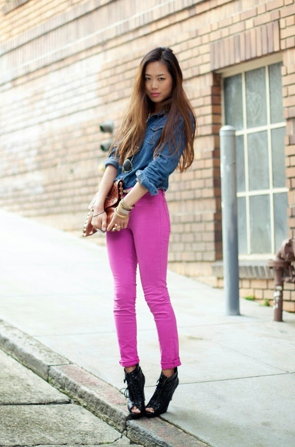 Image result for how to style a denim shirt