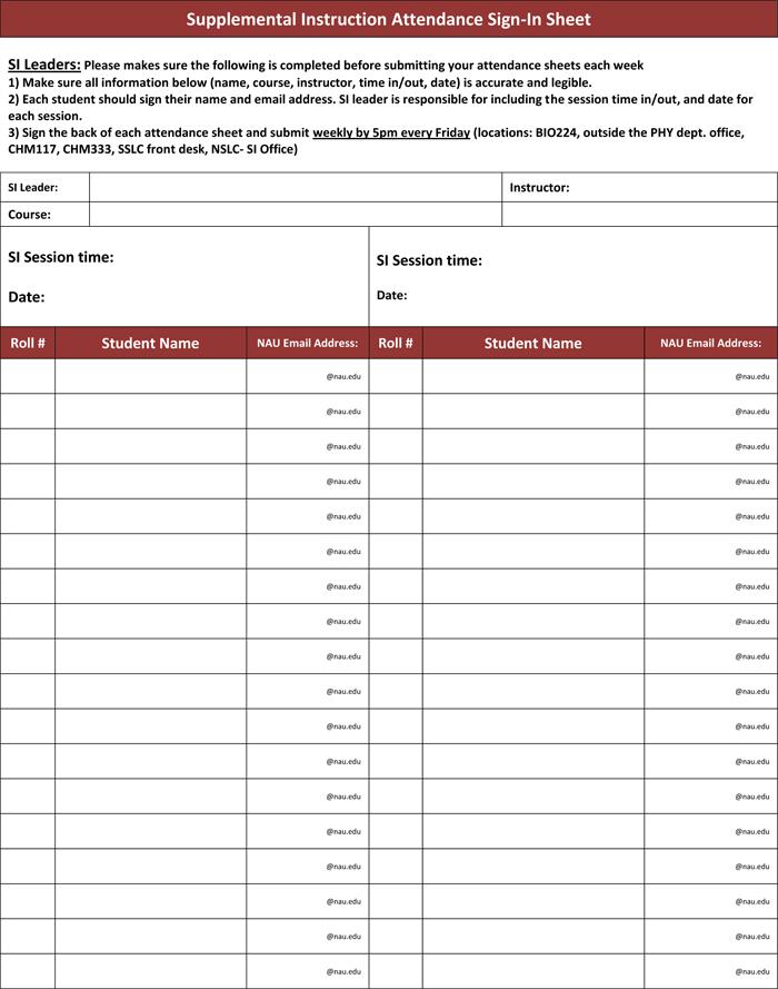 meeting attendee list template