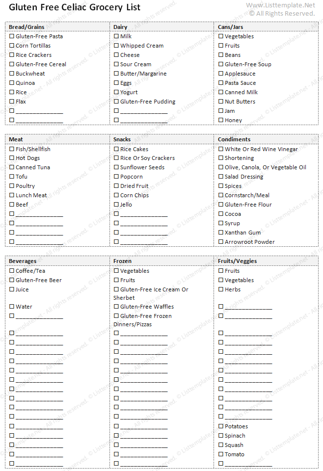 Grocery Template list template excel task list template list – Grocery Template