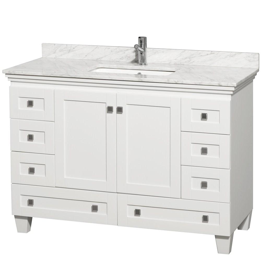 "acclaim 48"" white bathroom vanity set"