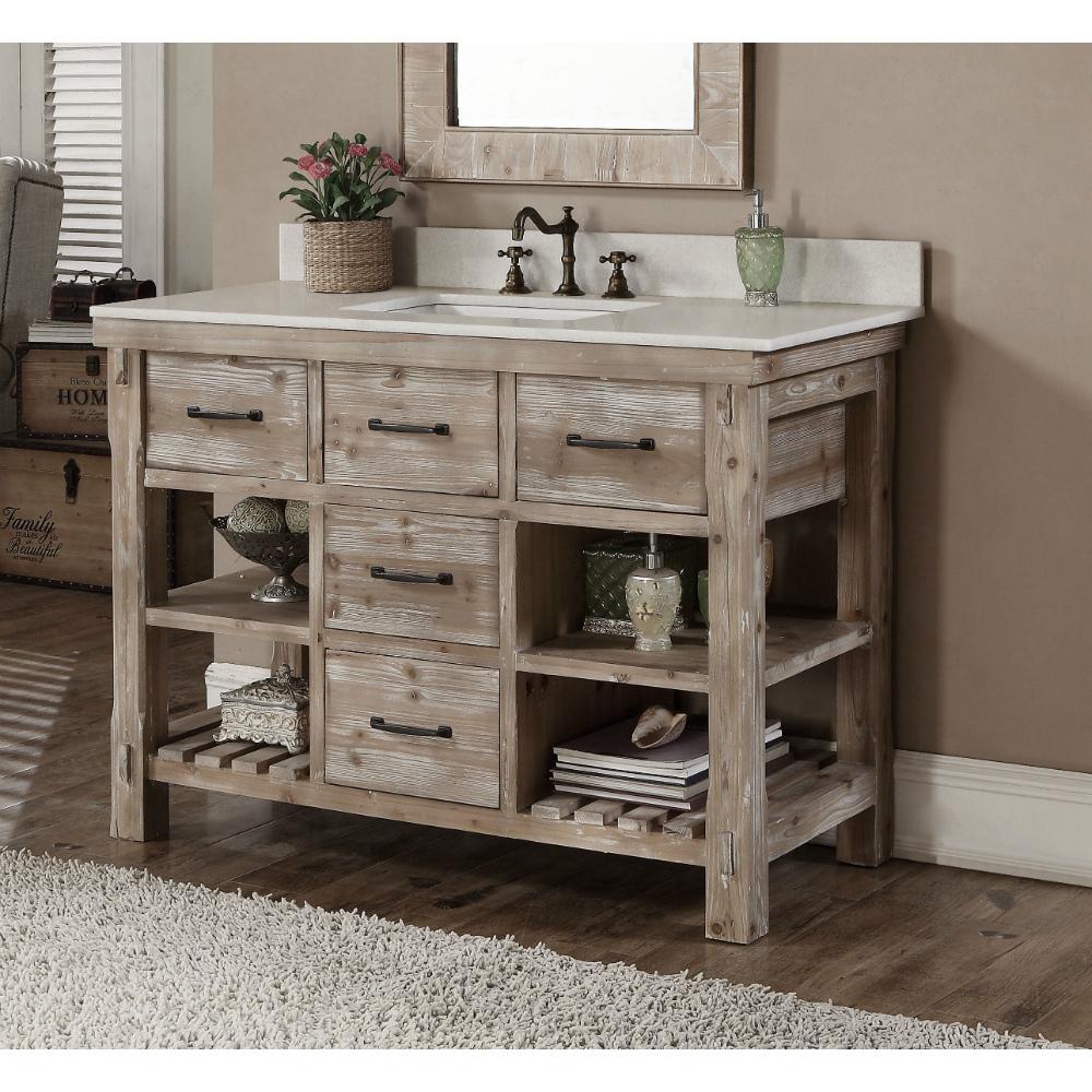 accos 48 inch rustic bathroom vanity