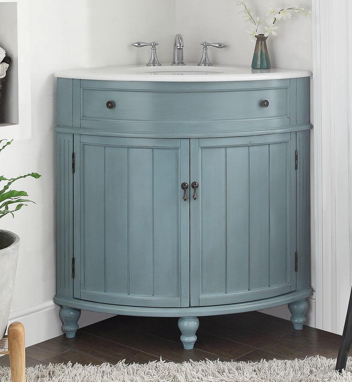 choosing your corner bathroom vanities