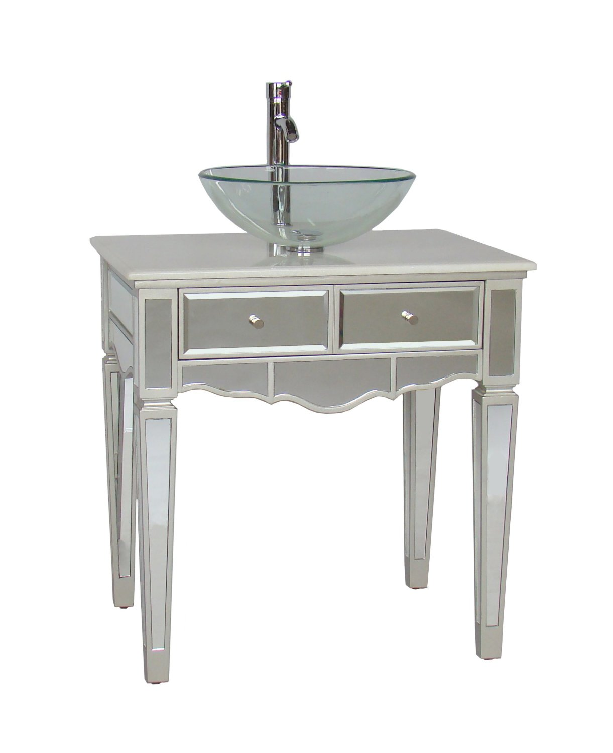 adelina 30 inch mirrored vessel sink