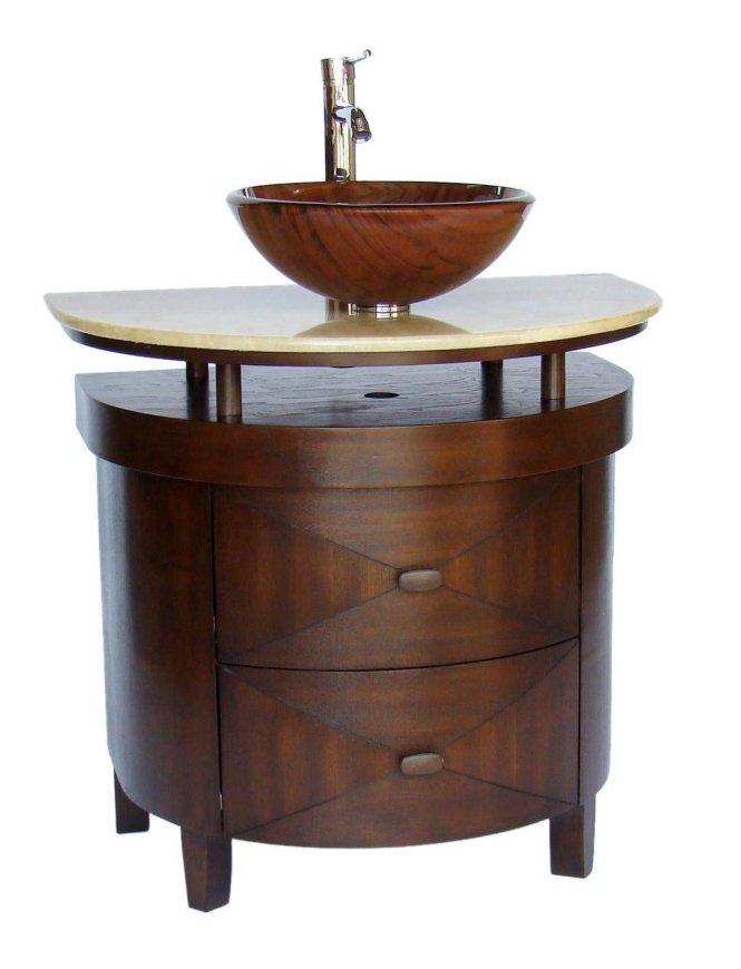 half round bathroom vanities. walnut half round bathroom vanity polyvore vanities n