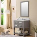 30 Gray Finish Single Sink Bathroom Vanity