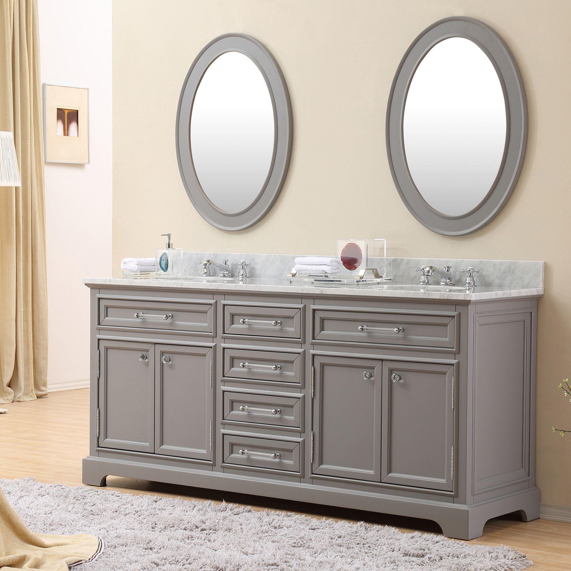 72 inch traditional double sink