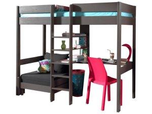 emob lit mezzanine avec canepe lit et bureau