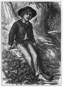 Original picture on 1876 Tom Sawyer Novel
