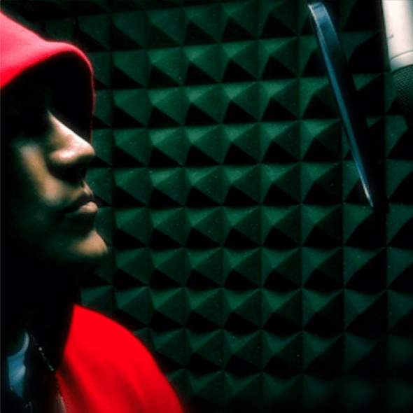 LF in the booth