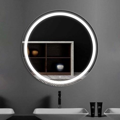 Round lighted mirror