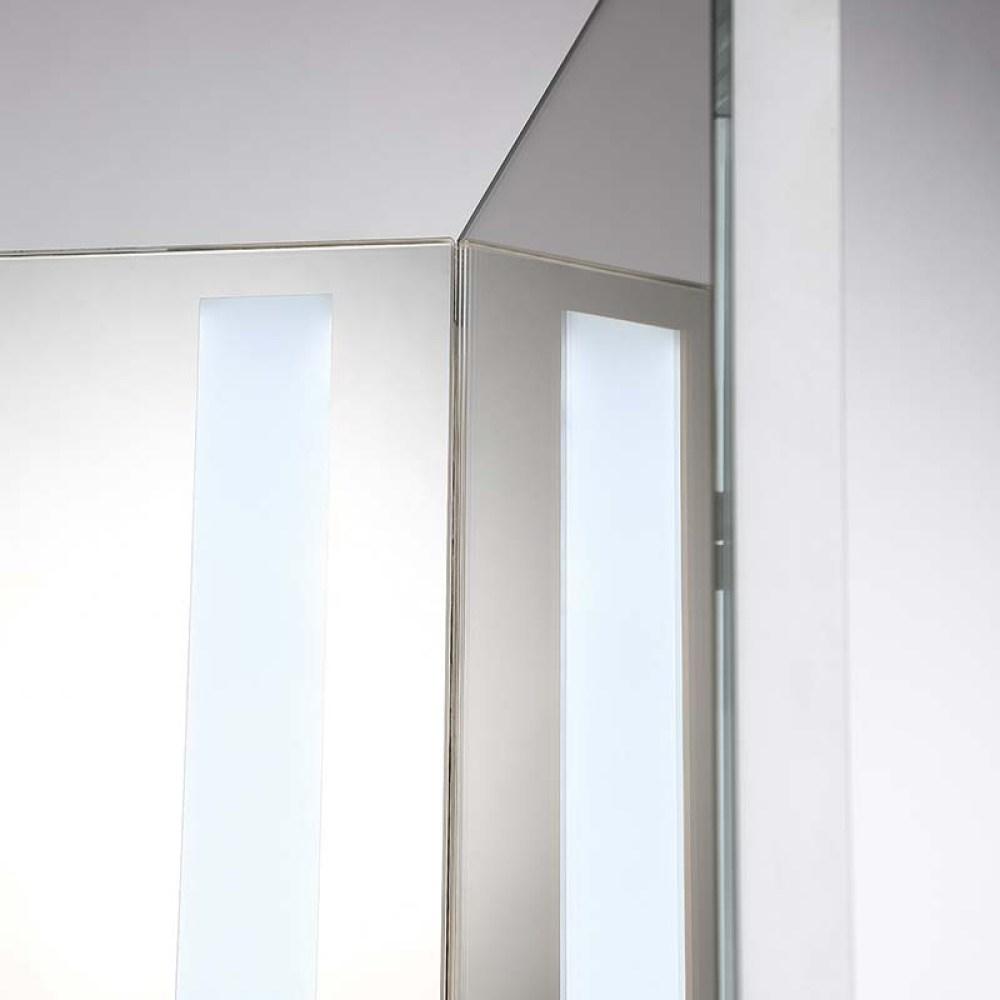 folding vanity mirror with lights