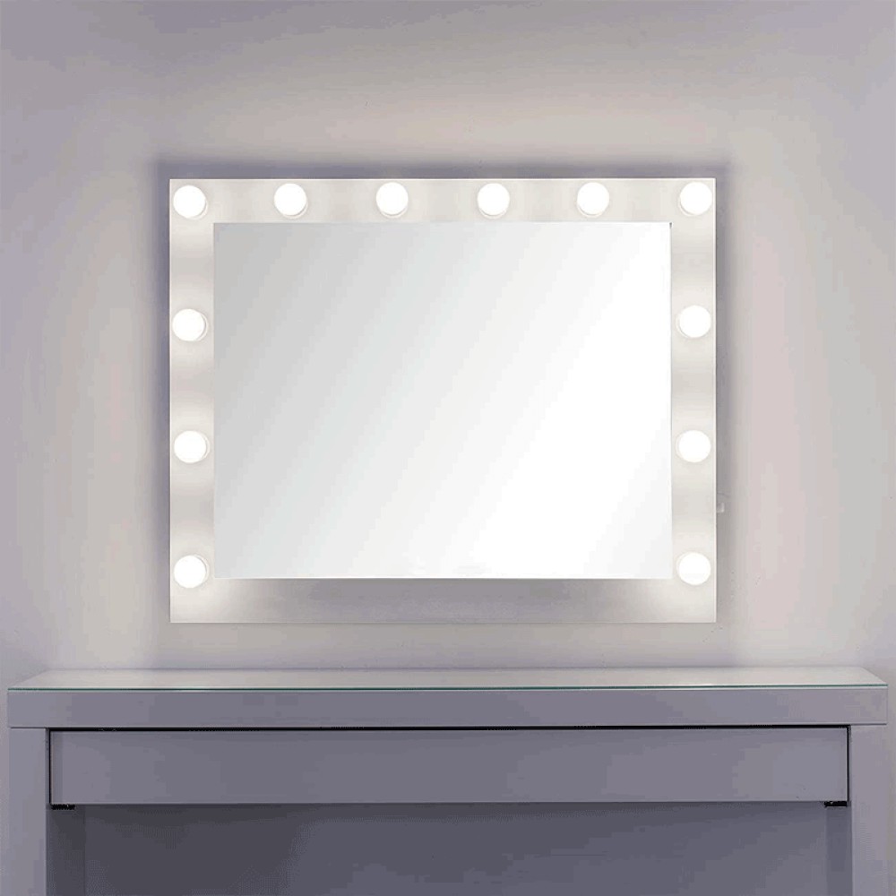 hollywood mirror with stand