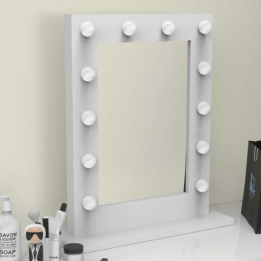 wall mounted hollywood mirror
