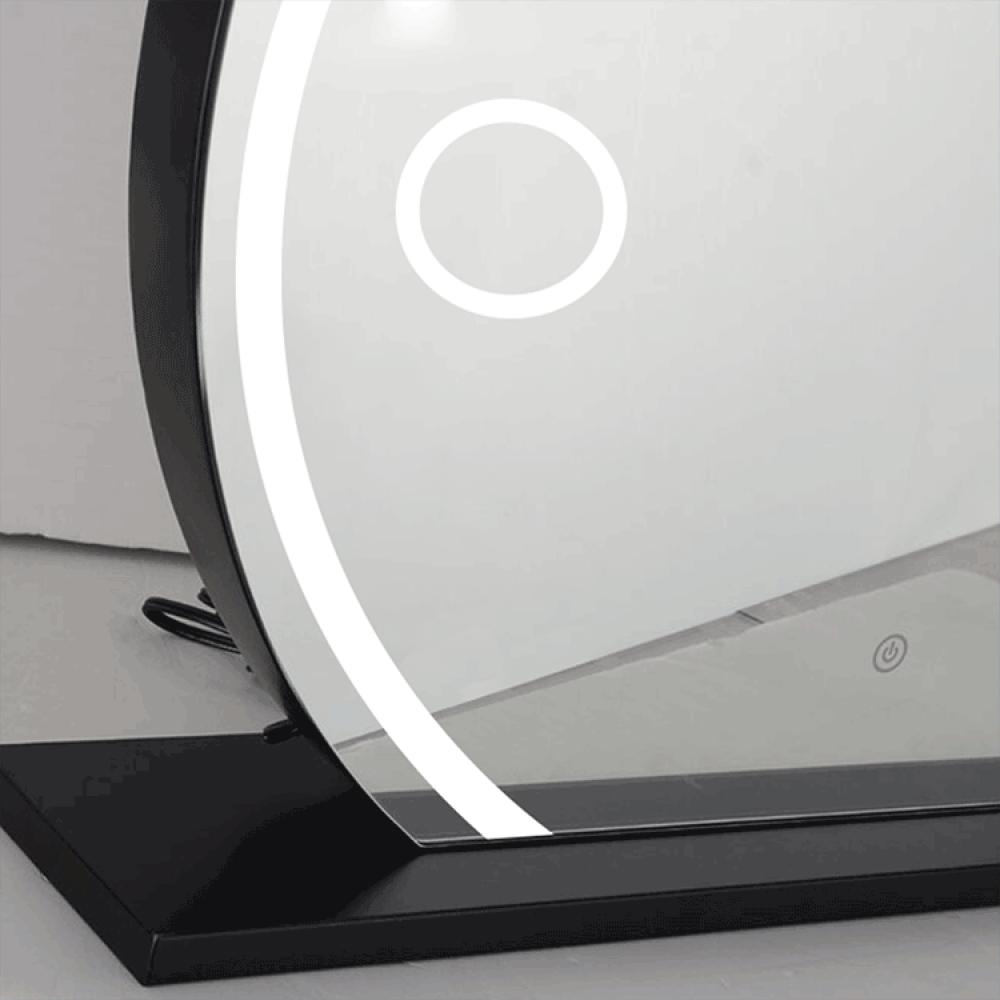 Magnifier make up mirror light