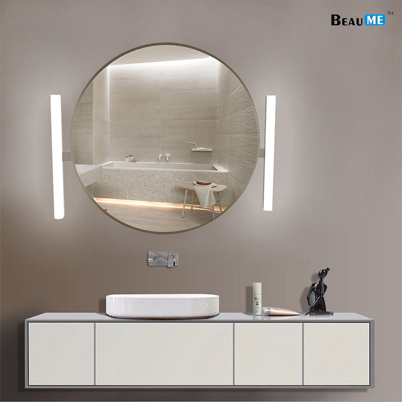 Liteharbor Wall Mirror With Two Lights Modern & Contemporary