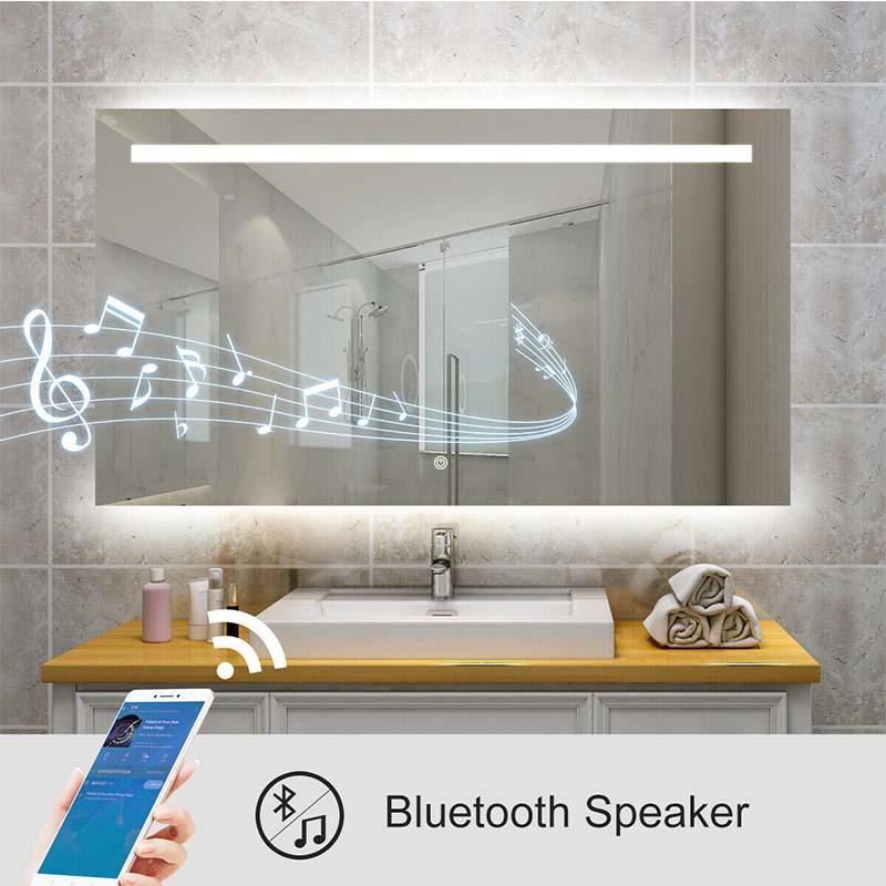 Bathroom mirrors with bluetooth