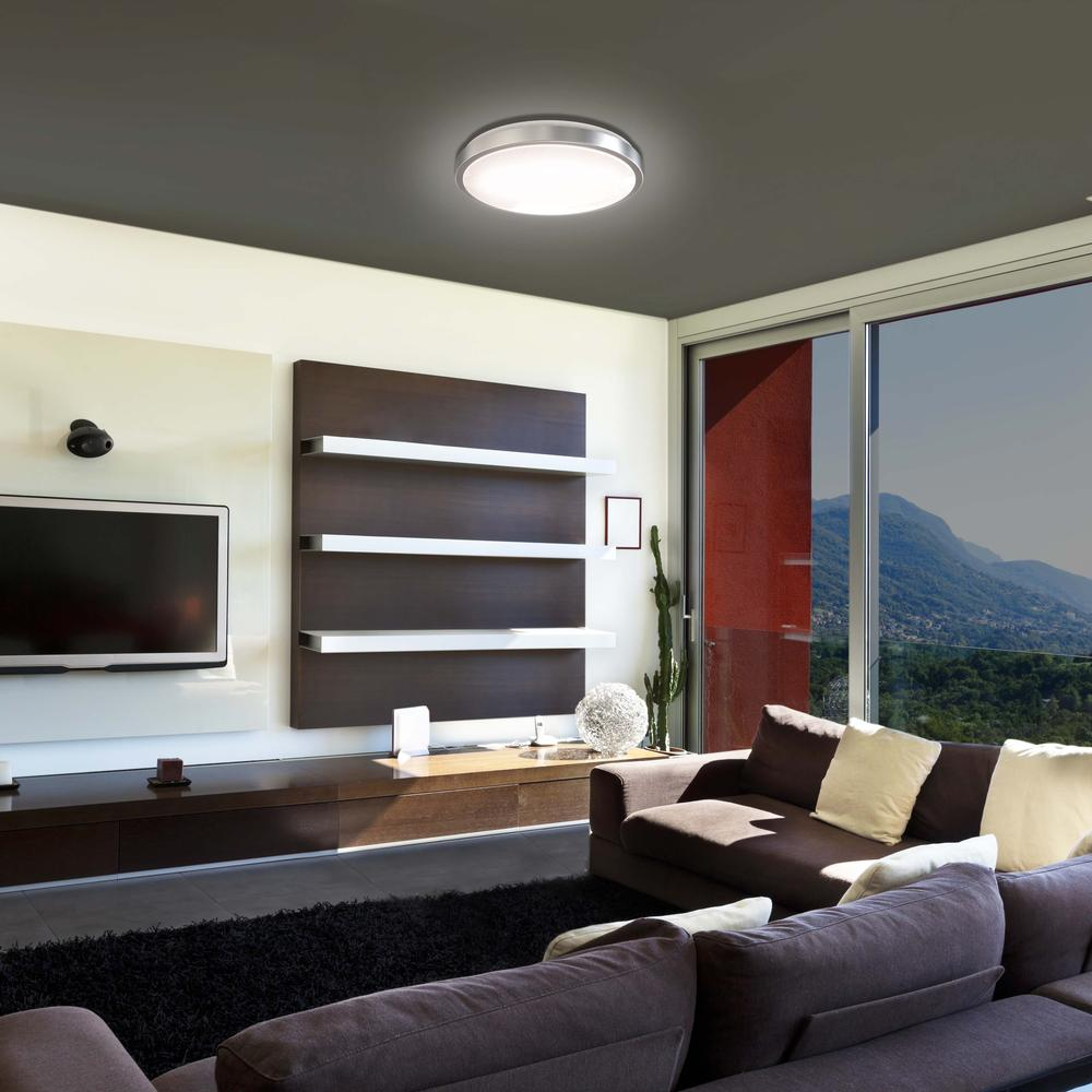 14-Inch Double Ring Dimmable LED Flush Mount Ceiling Light