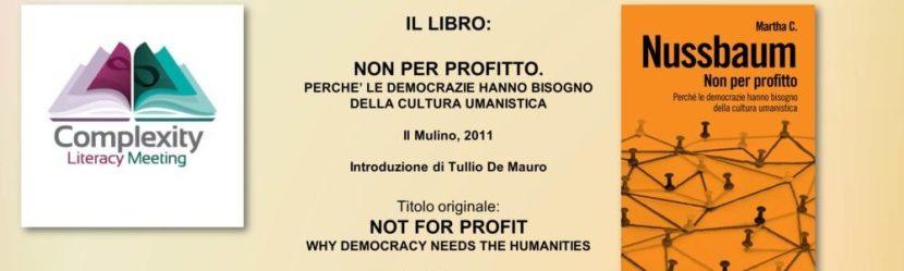 De Simone - Nussbaum- Non per profitto-Literacy 2018 Politica Economia