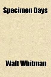 Omslag Specimen Days - Walt Whitman