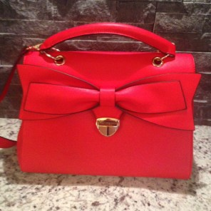 red bow purse
