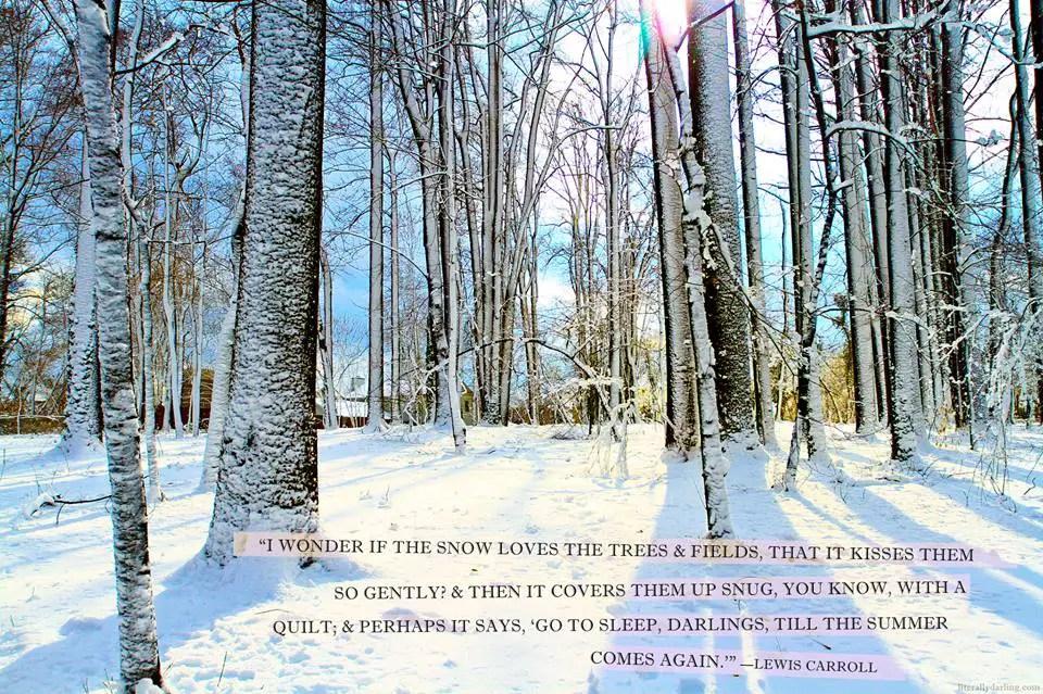 Free holiday prints snow - alice in wonderland