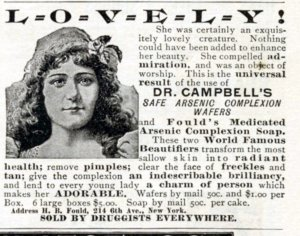 Arsenic Complexion Wafers 1896 The Cosmopolitan Magazine Feb 1896