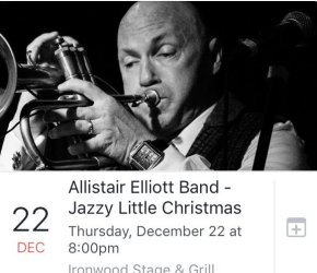 Jazzy Little Christmas - Allistair Elliott Band Live