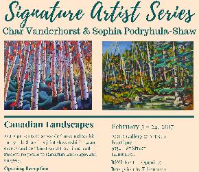 Canadian Landscapes: Char Vanderhorst & Sophia Podryhula-Shaw