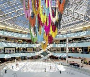 Art installation by the Color Condition at Galleria Dallas