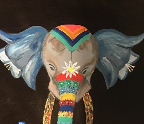 Life on Canvas Paint and Sip Studio 'Painted Elephant' Painting Class