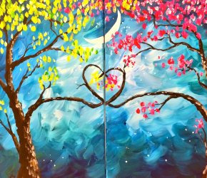 Love Trees at Night Set