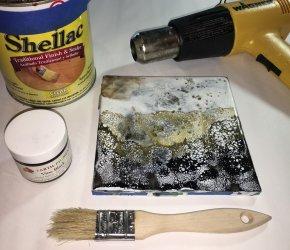 Encaustic Shellac Burn Workshop