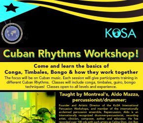 Cuban Rhythms Workshop!