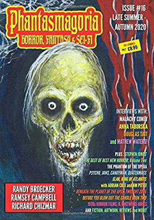 Cover of the 16h Issue of Phantasmagoria Magazine edited by Trevor Kennedy