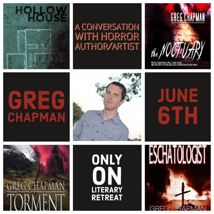 Second Poster for June 6th Interview with Greg Chapman.