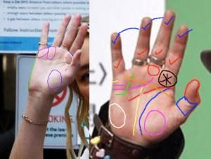Amber Heard and Johnny Depp Palm Readings.