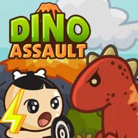 Hier sieht man das Logo des Spiels Dino Assault TDG