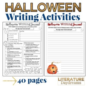 stories starters for halloween literature daydreams this ready to go resource contains 40 pages of halloween writing activities the story starters are totally fresh and new no repeats