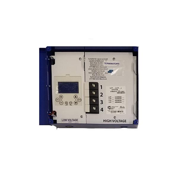 gr 1404ltd lc d 4 relay dimming blue box lighting control panel