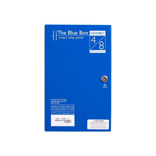 gr 1408lt lc d 8 relay blue box lighting control panel