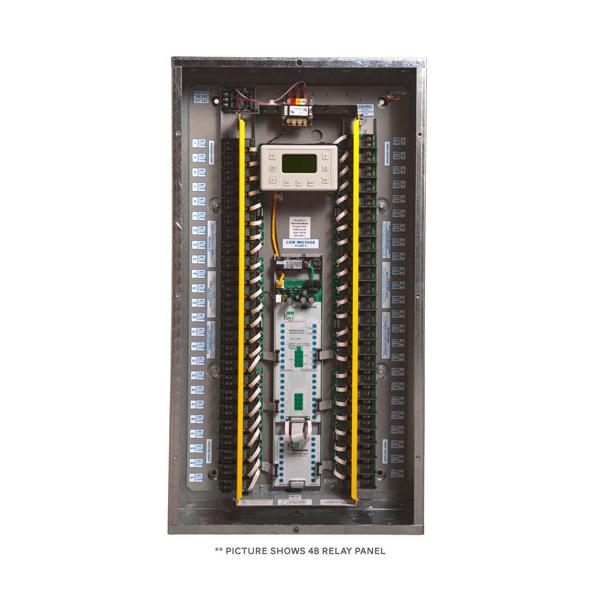 gr2448 48 relay master lc d lighting control panel